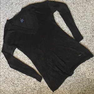 Guess V-Neck Metallic Sweater
